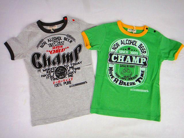 【1000円均一】CHILD CHAMP(チャイルドチャンプ)ビールラベル風半袖Tシャツ【メール便可能】