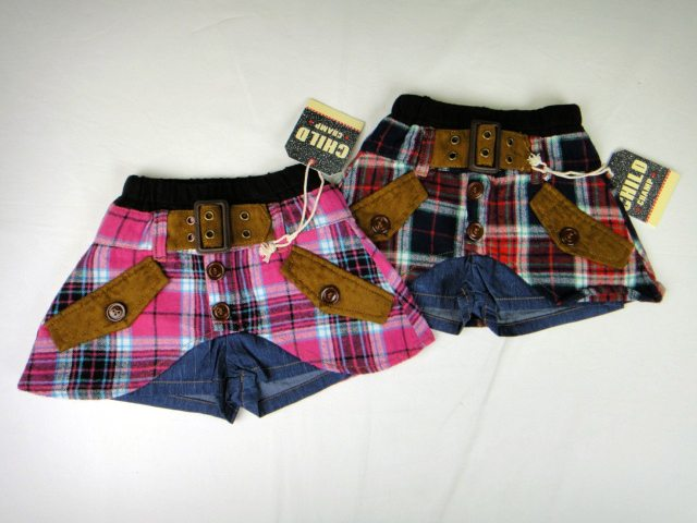 【SALE!!40%OFF!!】CHILD CHAMP(チャイルドチャンプ)チェック柄スカートパンツ
