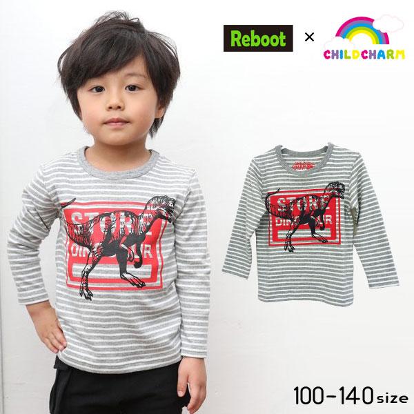 【2019新作♪】Reboot(リブート)恐竜プリント長袖Tシャツ【メール便送料無料】