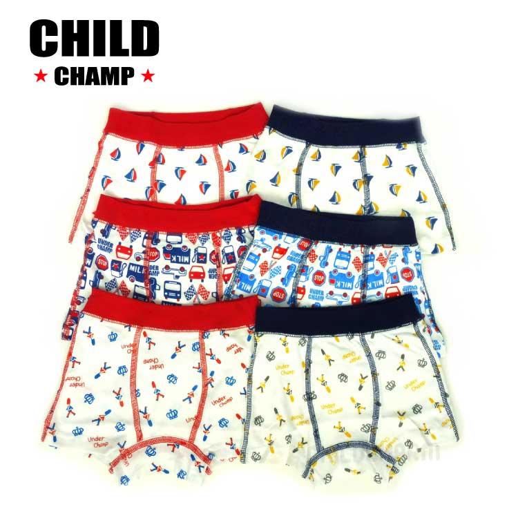【春物新作♪】CHILD CHAMP(チャイルドチャンプ)6柄ボクサーパンツ【メール便可能】