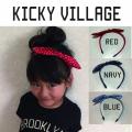 KICKY VILLAGE(キッキービレッジ)3柄カチューシャ【メール便可能】