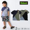 【2019夏物新作♪】Reboot(リブート)カラー切替半袖Tシャツ【メール便送料無料】