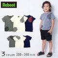 【50%OFFSALE】Reboot(リブート)ラインプリント半袖Tシャツ【メール便可能】