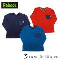 【30%OFFSALE】Reboot(リブート)胸ポケット付き無地長袖Tシャツ【メール便送料無料】