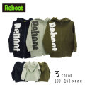 【50%OFFSALE】Reboot(リブート)ロゴプリントジップアップパーカー【120サイズまでメール便可能】