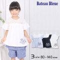 【2020夏物新作】Bateau Bleue(バトーブルー)レース切替チュニックTシャツ【メール便送料無料】