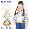 【2021春物新作】Bateau Bleue(バトーブルー)花柄ウィンドブレーカー【メール便送料無料】