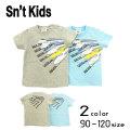 【2020夏物新作】Sn't kids(セントキッズ)新幹線プリント半袖Tシャツ【メール便送料無料】