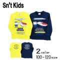 【2020秋物新作】Sn't kids(セントキッズ)新幹線プリント長袖Tシャツ【メール便送料無料】