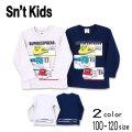 【2021秋物新作】Sn't kids(セントキッズ)SUPER EXPRESSプリント長袖Tシャツ【メール便送料無料】