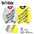 【2020秋物新作】Sn't kids(セントキッズ)働く車プリント長袖Tシャツ【メール便送料無料】