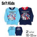 【2021秋物新作】Sn't kids(セントキッズ)働く車プリント長袖Tシャツ【メール便送料無料】