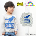 【40%OFF】【春物新作】GARACH(ギャラッチ)恐竜プリント長袖Tシャツ【メール便送料無料】