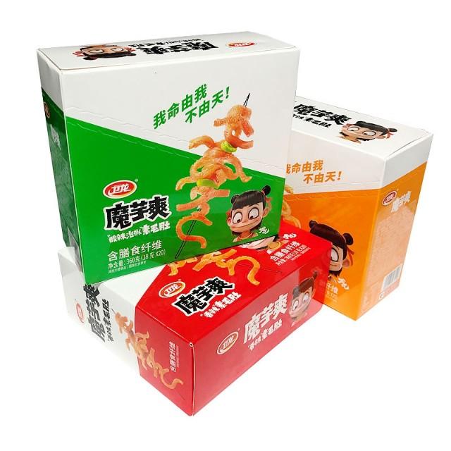 【常温便】衛龍 魔芋爽 素毛肚 三種口味 盒裝 賞味期限過ぎ、特価