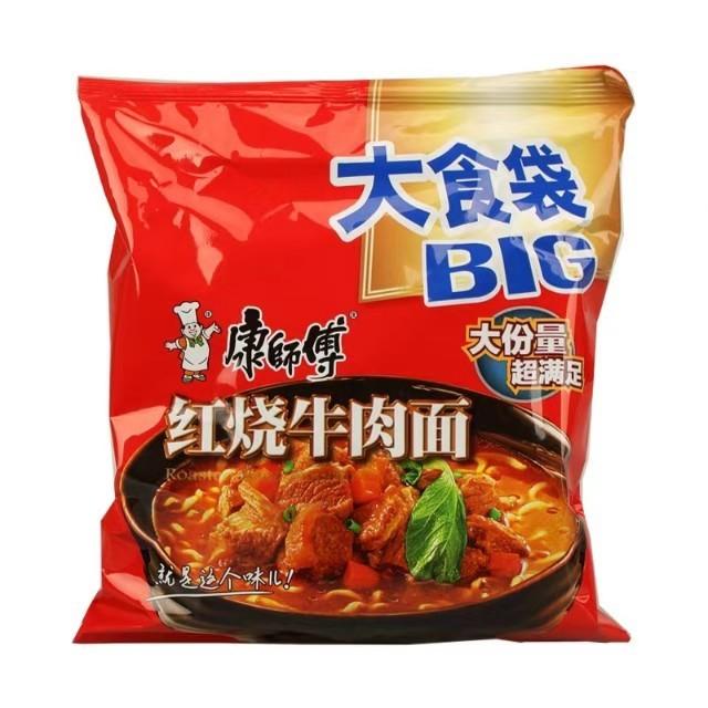 【常温便】康師傅紅燒牛肉面 BIG(袋裝)