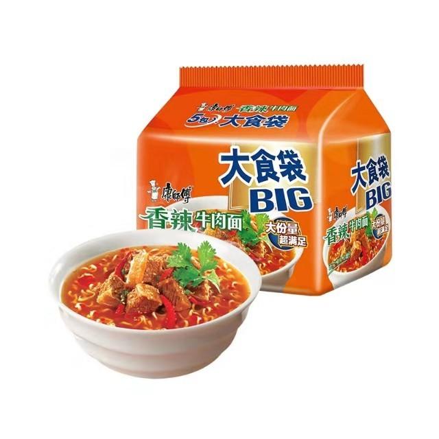 【常温便】康師傅香辣牛肉面 BIG(5袋裝)