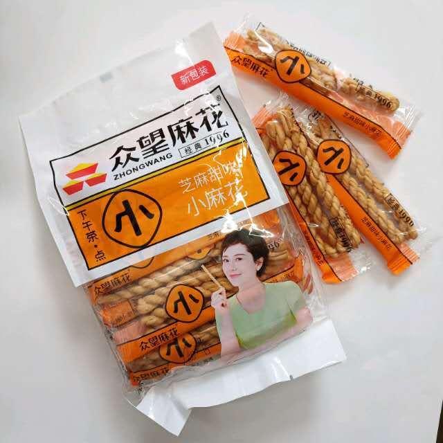 【常温便】衆望中華菓子マーファー /衆望小麻花 芝麻甜味 200g