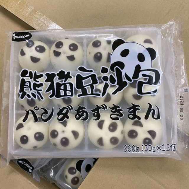 【冷凍便】パンダあずきまん/熊猫豆沙包360g(12個)