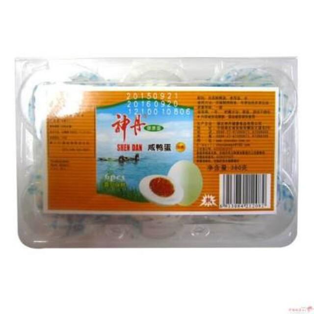【常温便】神丹ゆで塩卵/神丹咸鴨蛋 6個
