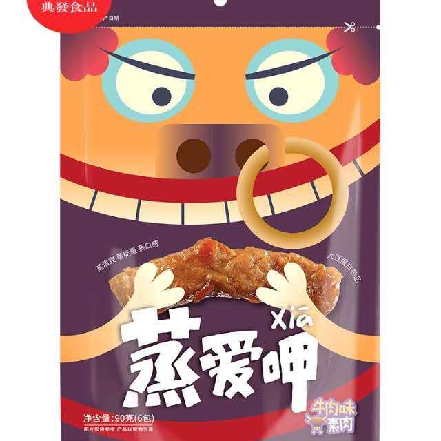 【常温便】牛肉風味豆腐加工品/蒸愛呷牛肉味素肉90g