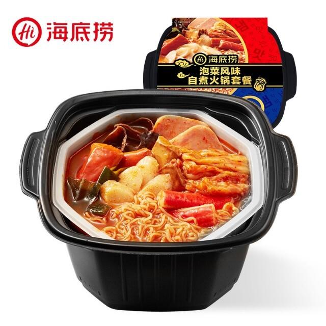 【常温便】海底撈 自煮火鍋 泡菜風味/キムチ風味、自己発熱の火鍋