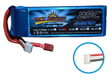 RCネットサービス JACK POWER リポバッテリー 14.8V 4000mAh 25C