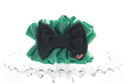 【親子お揃いプレゼント】グリーンとグリーンリボンのママシュシュ【出産祝い/誕生日/ジュメル】