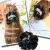 親子お揃いシュシュ(ペアヘアアクセサリー)専門店ジュメルベロアツイード高級シュシュDIVAベロアツイードアレンジ画像