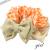 【親子お揃いプレゼント】オレンジギンガムチェックとベージュリボンガールズシュシュ【出産祝い/誕生日/ジュメル神戸/子ども】サイズ