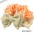 【親子お揃いプレゼント】オレンジギンガムチェックとベージュリボンママシュシュ【出産祝い/誕生日/ジュメル神戸/妻】サイズ