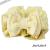 【親子お揃いプレゼント/高級シュシュ】イエローツイードと白ドットリボンのママシュシュ【出産祝い/ペア/誕生日/ジュメル神戸】サイズ