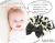 親子お揃いシュシュ(ペアヘアアクセサリー)専門店ジュメル黒ドットと黒リボンベビーシュシュラトル【出産祝い/誕生日/子ども】メイン1