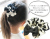 親子お揃いシュシュ(ペアヘアアクセサリー)専門店ジュメル黒ドットと黒リボンガールズシュシュ【出産祝い/誕生日/子ども】メイン2