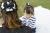 親子お揃いシュシュ(ペアヘアアクセサリー)専門店ジュメル黒ドットと黒リボンママシュシュ【出産祝い/誕生日/妻】メイン2