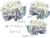 【親子お揃いプレゼント】ジュメル神戸オーガニックコットン100%ブルーボーダーとブルーリボンシュシュ3サイズ