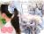 親子お揃いシュシュ専門店ジュメルオーガニックコットン100%ブルーボーダーとブルーリボンのママシュシュメイン画像