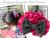 子お揃いシュシュ(ペアヘアアクセサリー)専門店ジュメルヒューシャピンクとグレーリボンガールズシュシュメイン
