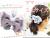 親子お揃いシュシュ(ペアヘアアクセサリー)専門店ジュメルオーガニックコットンブルーボーダーブルーリボンガールズメイン画像2