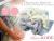 【親子お揃いプレゼント】ジュメル神戸オーガニックコットン100%ブルーボーダーとブルーリボンベビーシュシュ(ラトル)2