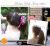 親子お揃いシュシュ(ペアヘアアクセサリー)専門店ジュメルヒューシャピンクとグレーリボンママシュシュ大ぶりシュシュ詳細バナー画像1