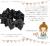 【親子お揃いプレゼント】ブラックレースと黒ドットリボンのベビーラトル【出産祝い/ペア/誕生日/ジュメル神戸】メイン1
