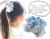 【親子お揃いプレゼント/出産祝い】水色ギンガムチェックとブルーリボンの子どもシュシュ【出産祝い/ペア/誕生日/ジュメル神戸】画像1