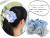 【親子お揃いプレゼント/高級シュシュ】水色ギンガムチェックとブルーリボンのママシュシュ【出産祝い/ペア/誕生日/ジュメル神戸】画像1