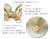 【親子お揃いプレゼント】オレンジギンガムチェックとベージュリボンシュシュ【出産祝い/誕生日/ジュメル神戸/妻】3サイズ