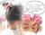 【親子お揃いプレゼント/出産祝い】ピンクギンガムチェックとピンクリボン子どもシュシュ【出産祝い/ペア/誕生日/ジュメル神戸】画像