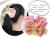 【親子お揃いプレゼント/出産祝い】ピンクギンガムチェックとピンクリボンのママシュシュ【出産祝い/ペア/誕生日/ジュメル神戸】画像