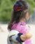 【親子お揃いプレゼント】レッドチェックネイビーリボンガールズシュシュ【出産祝い/誕生日/オシャレ】メイン1