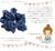 【親子お揃いプレゼント】ネイビーレースと紺ドットリボンのベビーラトルシュシュ【出産祝い/ペア/誕生日/ジュメル神戸】メイン1