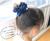 【親子お揃いプレゼント】ネイビーレースと紺ドットリボンの子どもシュシュ【出産祝い/ペア/誕生日/ジュメル神戸】メイン2