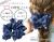 【親子お揃いプレゼント】ネイビーレースと紺ドットリボンのママシュシュ【出産祝い/ペア/誕生日/ジュメル神戸】メイン